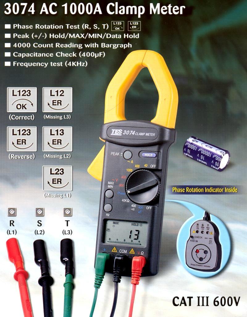 交流电流钳形表 tes-3074