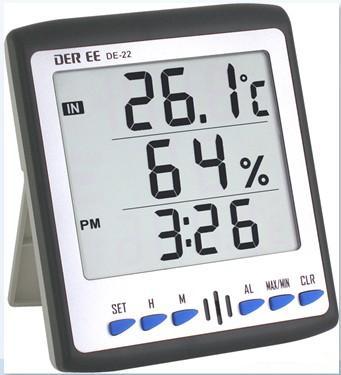 DE22温度/湿度/时间/闹铃四机一体DE-22
