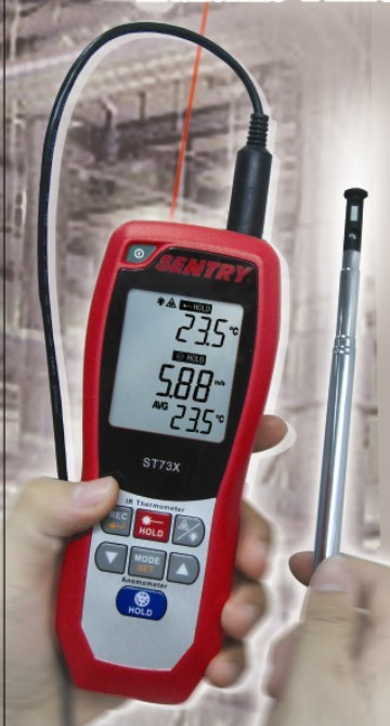 ST733红外测温风速计ST-733