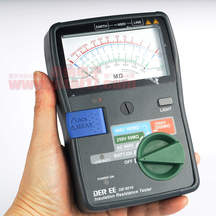 DE-5010 指针式绝缘电阻计DE5010