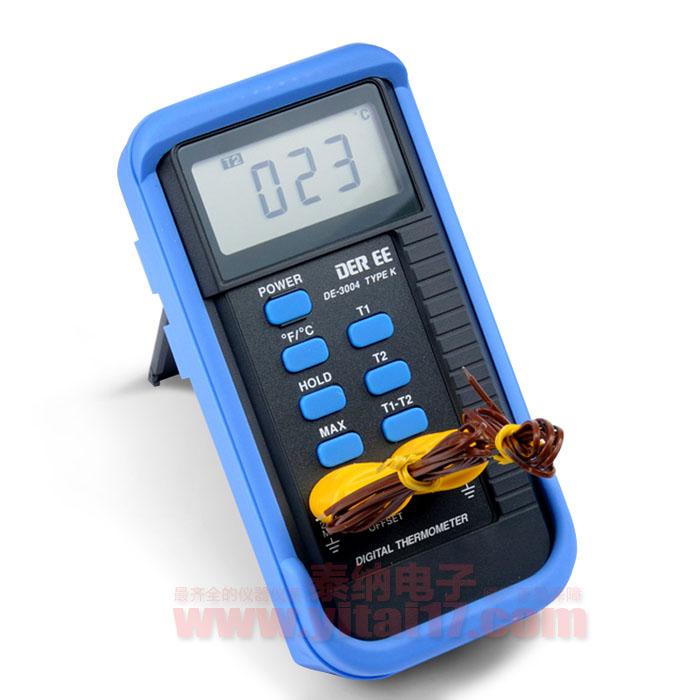 DE3004双通道温度计DE-3004温度表(K型)