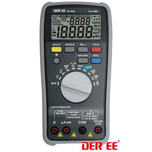 真有效值lcr表台湾得益de-5004 数位型万用电表 lcr