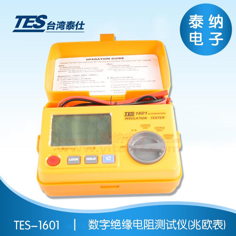 TES-1601  数字绝缘电阻测试仪(兆欧表)